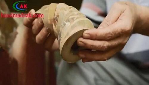 Hình ảnh ghép thân tôm từ khoanh cây tre