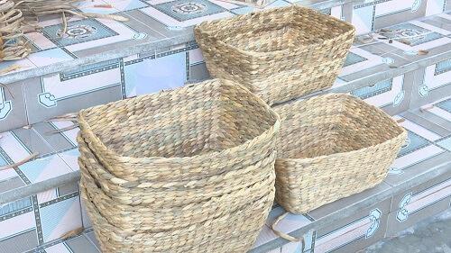 sản phẩm lục bình dùng để lưu trữ đồ vật;